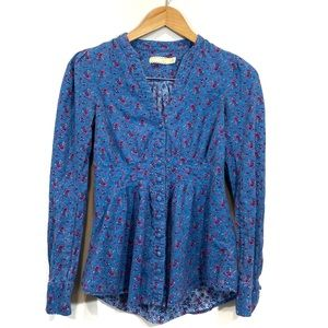 Urban Outfitters Pins & Needles Floral Button Up